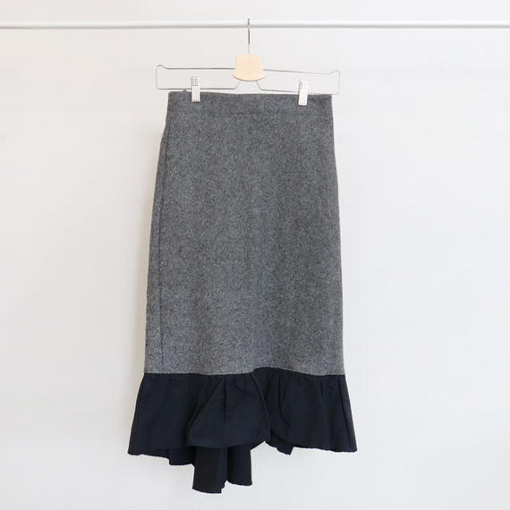 [ sample SALE ] hem frill wool skirt