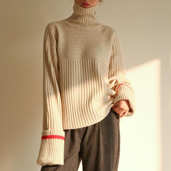 long sleeve hign neck knit
