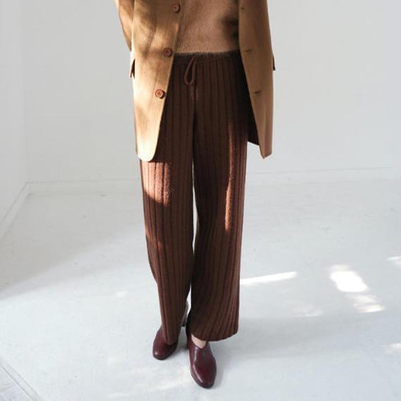 -2 colors- wool rib knit pants