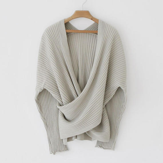 2way cache coeur rib knit