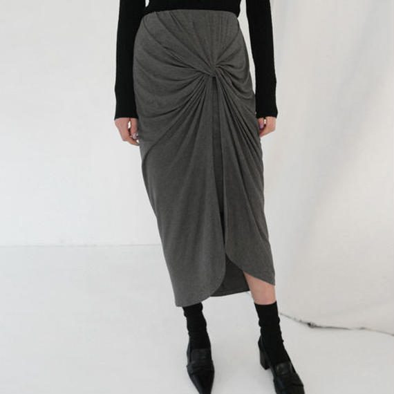 knot and drape skirt