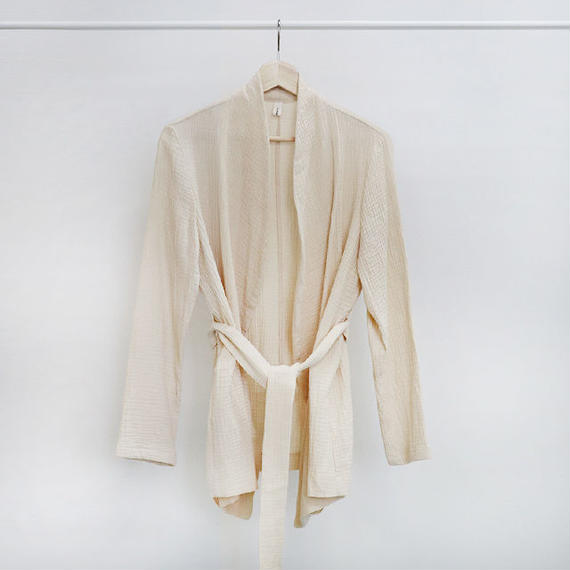 [ sample SALE ] cotton gauze robe jacket