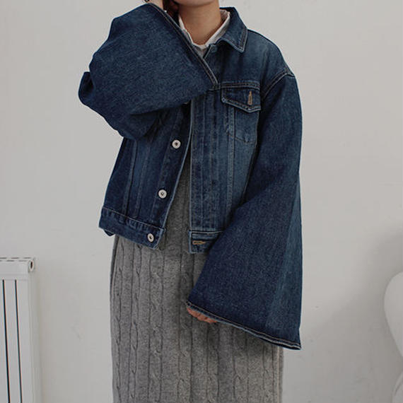 KIMONO sleeve denim jacket