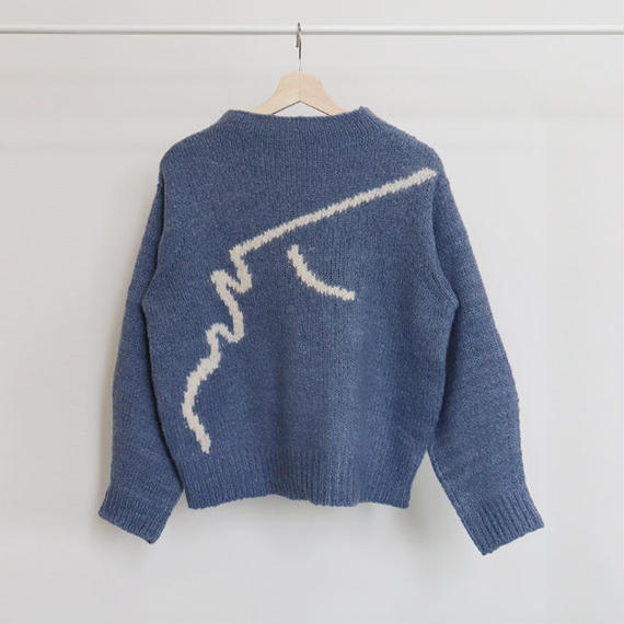 [ sample SALE ] hand drawing knit