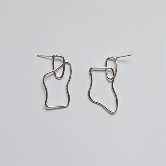 A PIECE pierced earrings