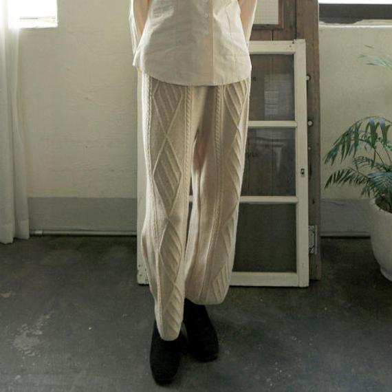 ◆Good & Warm◆ -2colors- cable knit pants