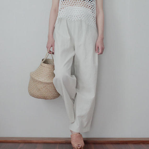 relax linen gather pants
