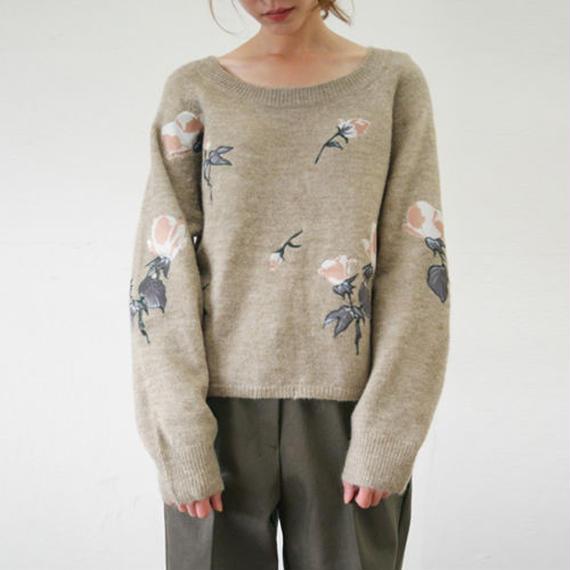 flower patchwork knit