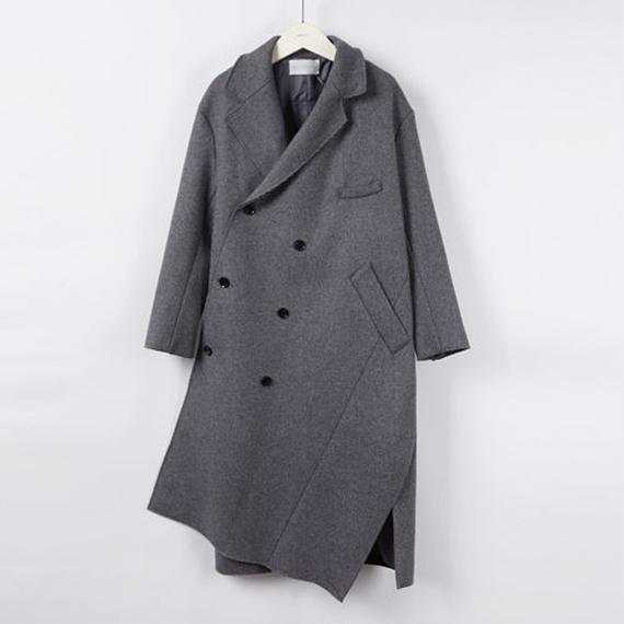 asymmetry pattern long coat