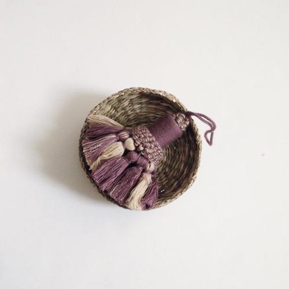 handmade tassel charm -cotton mix-