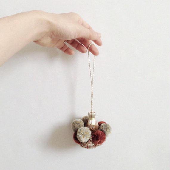 handmade tassel charm -silk mix-