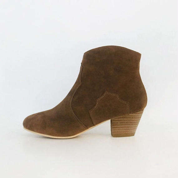 suede western short boots