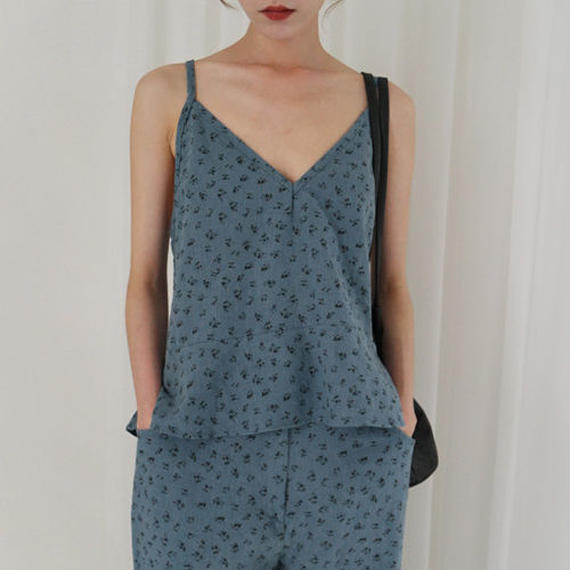 summer flower linen camisole (set item)