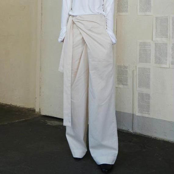 -2colors- rap design wide pants