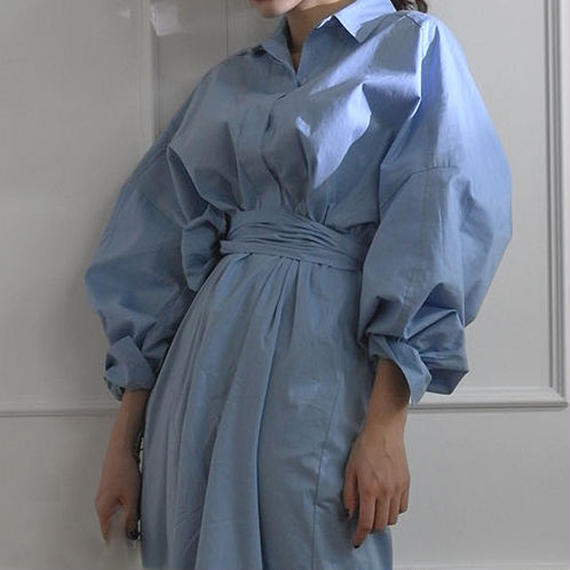 -2 colors- KIMONO shirt dress