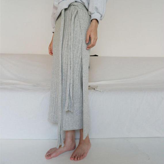-3 colors- rib knit rap skirt