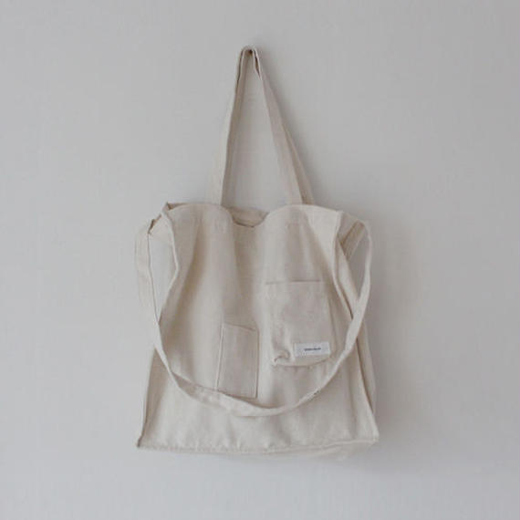 pocket pointed 2way canvas bag