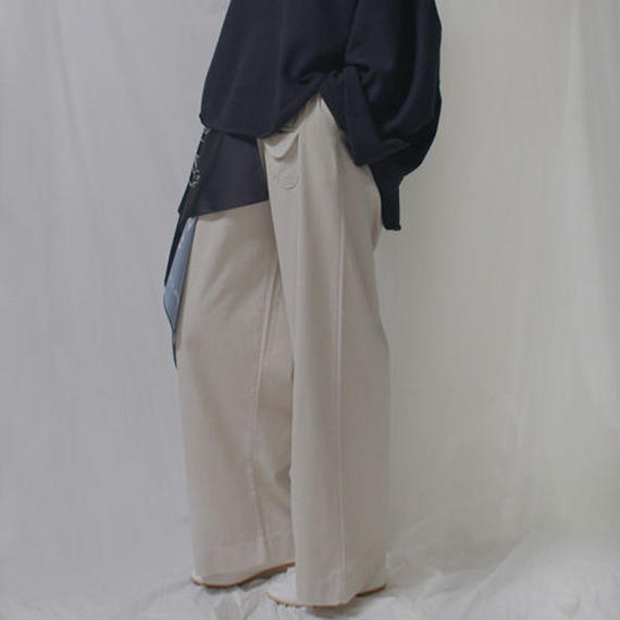 -3 colors- pocket pointed wide work pants