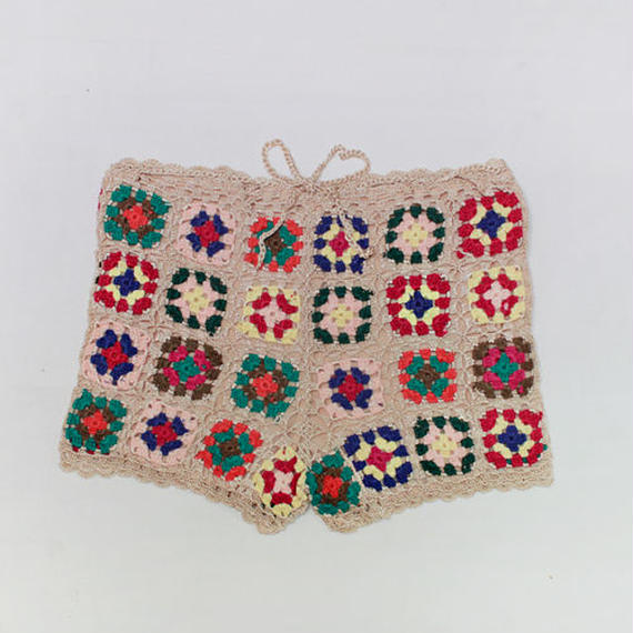 colorful crochet shorts