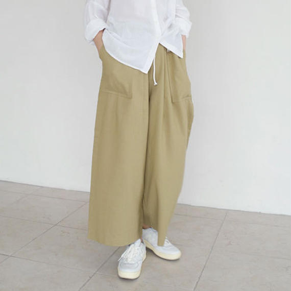wide string cotton pants