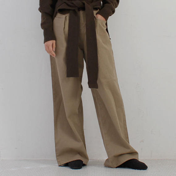 solid pokets chino pants