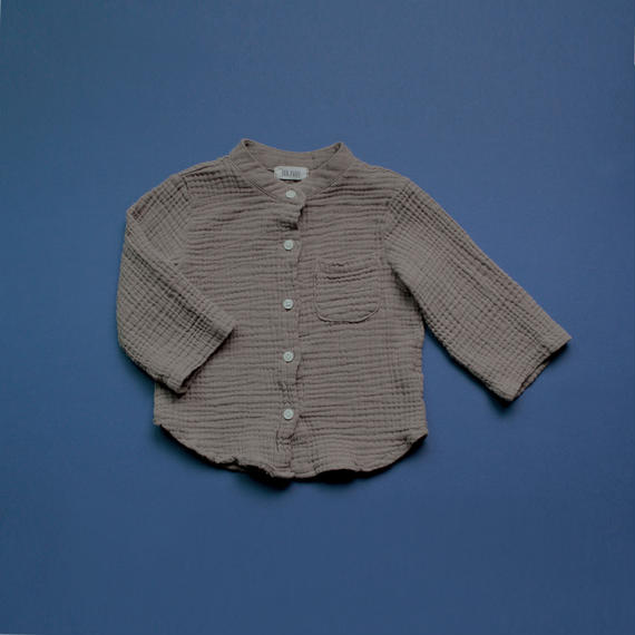 ■for baby■washed cotton gauze stand-up collar shirt