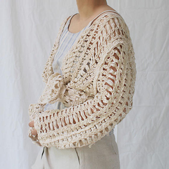 rough knitting cardigan