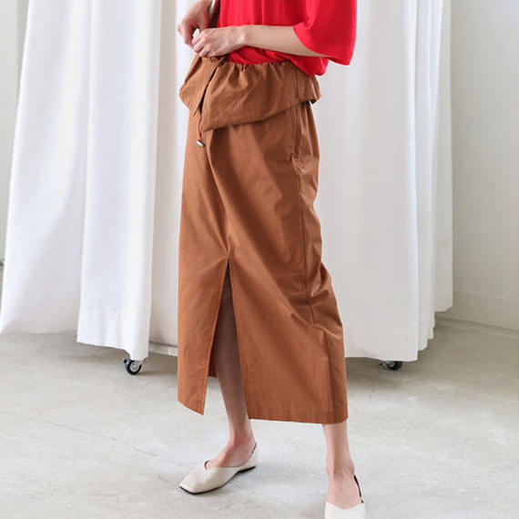 string waist work long skirt