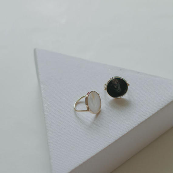 marble stone round ring