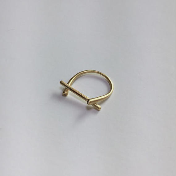 gold twig ring
