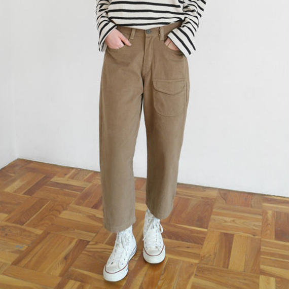 -3 colors- one pocket cropped pants