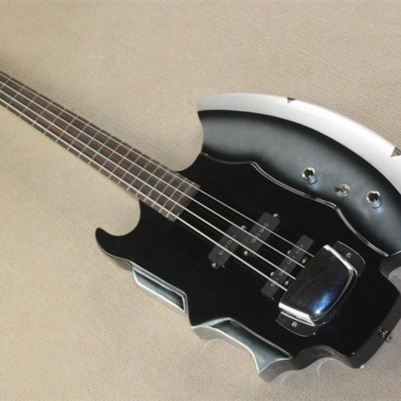 斧型4弦エレキベース ノーブランド品 変形エレキベース