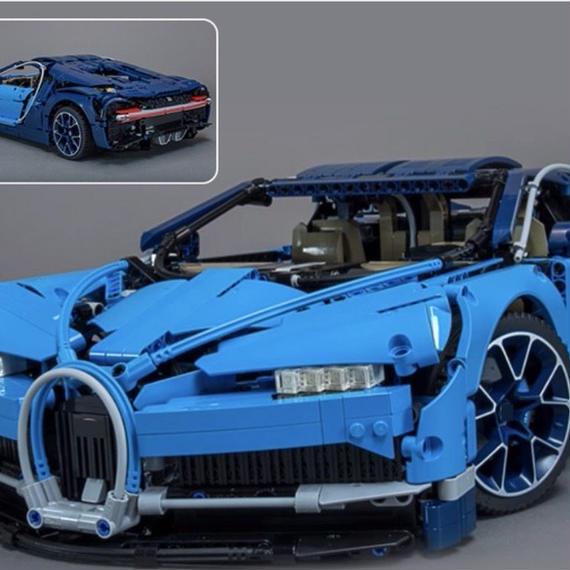 【新品】レゴ互換品 スーパーカー ブルー テクニックシリーズ LEGO互換 4031ピース