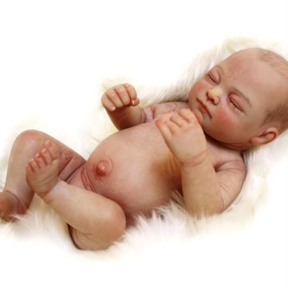 リボーンドール フルシリコン 全身リアルな新生児 お風呂に入れる 男の子 高級 海外限定モデル 赤ちゃん人形 ベビー人形 ベビードール