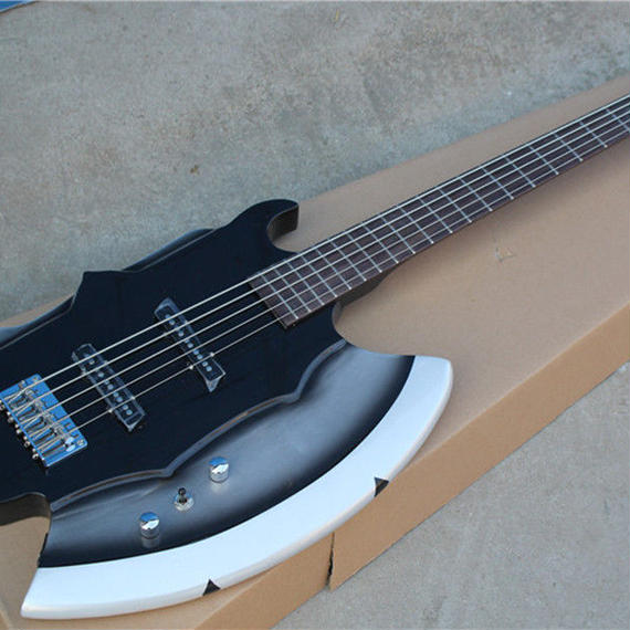 斧型5弦エレキベース ノーブランド品  変形ベース