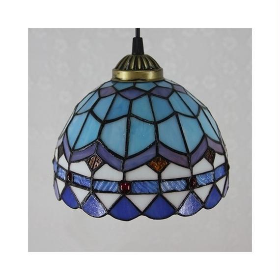 Stylechic ティファニーライト ペンダントライト ステンドグラスランプ 照明器具 食卓用 居間用 玄関 廊下 喫茶店 照明1灯 D20cm