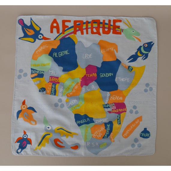 アフリカ地図のデザイン ハンカチ