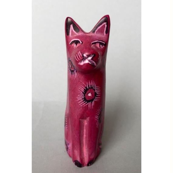 ソープストーン ピンクの小さな猫ちゃん