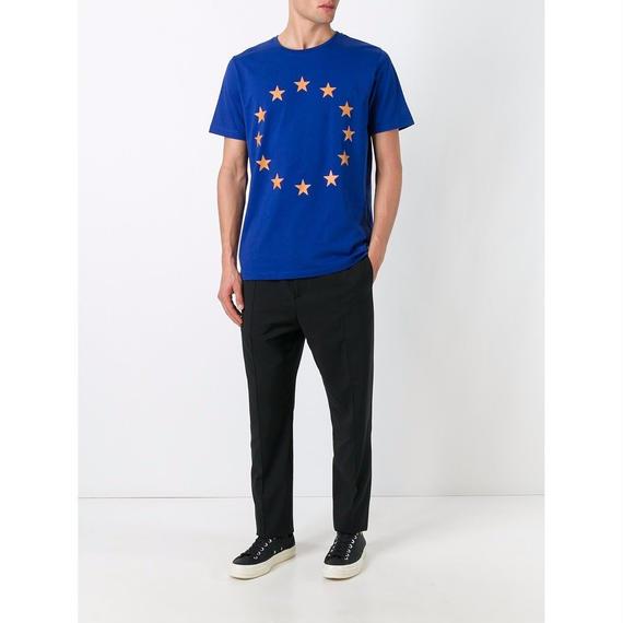 ÉTUDES (エチュード) Tシャツ / Page Europa Union Tシャツ (BLUE&ORG) - Paris & N.Y