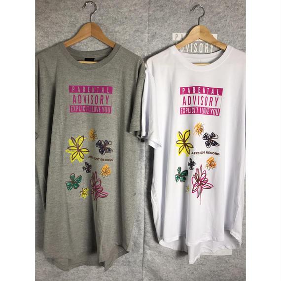 Round Hem T-Shirts - FLOWER