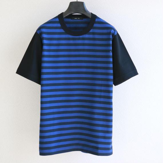 バイカラースリーブ ボーダー T-shirt  BN