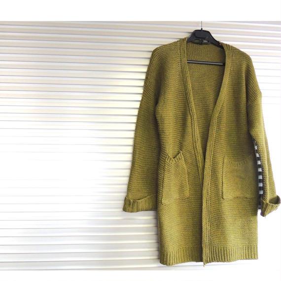 Knit cardigan  / Khaki