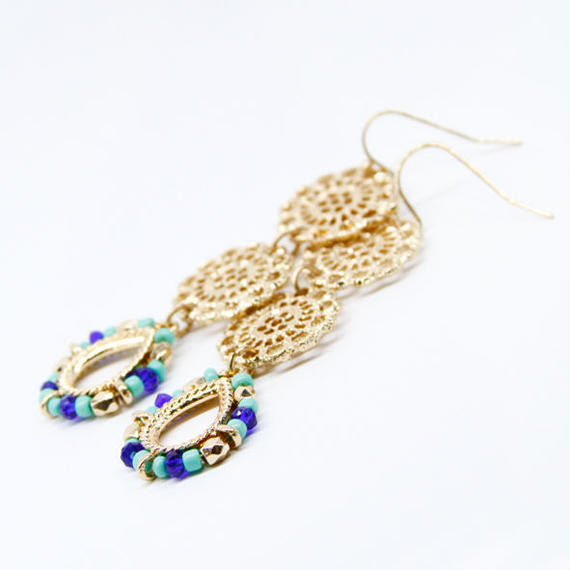 Ethnic Earring / Blue
