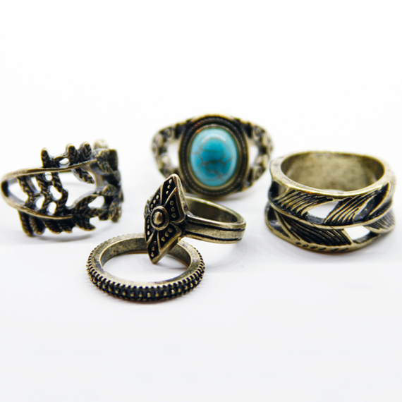 Native Ring Set / Gold