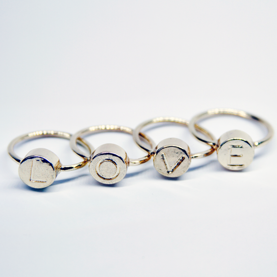 L.O.V.E Ring Set / Gold