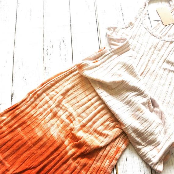 Gradation rib dress