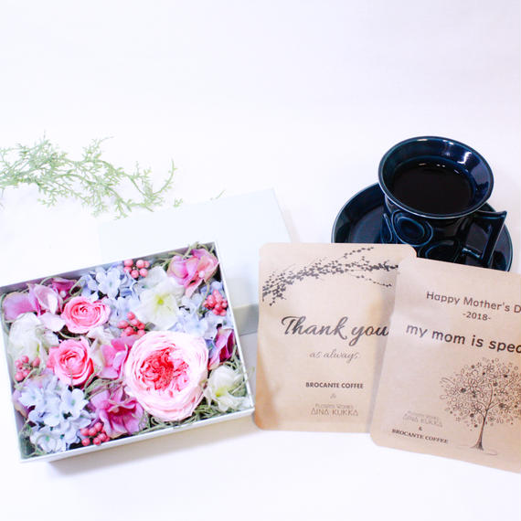 [Flower & Coffee SET]Box M+メッセージドリップバック2種5個