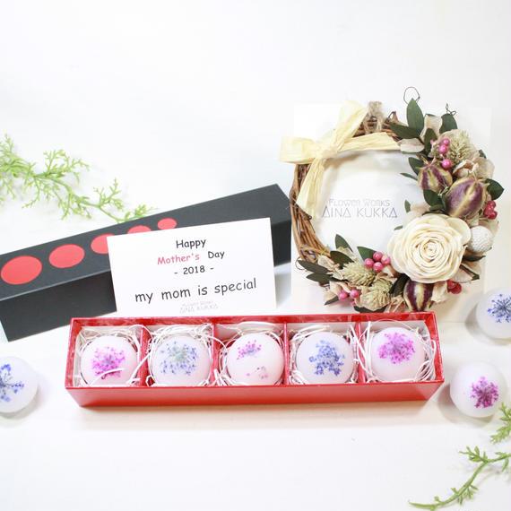 母の日[Flower Aroma SET]フレグランスリース×アロマワックスボール5個