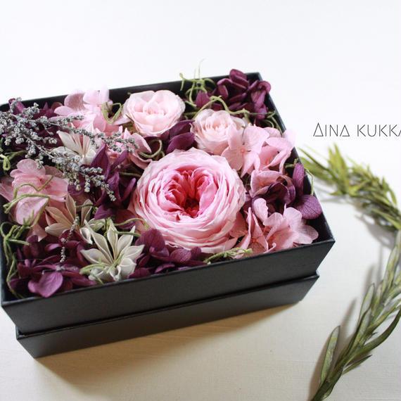 [Flower Box Ⅿsize]PINK/プリザーブドフラワー