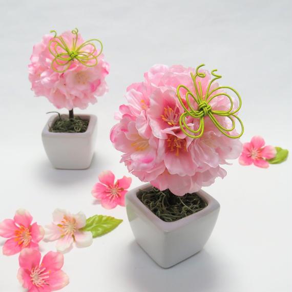 桜のミニトピアリー